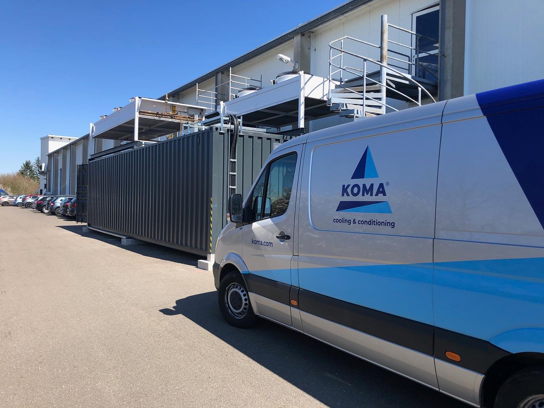 KOMA Kältetechniker im Einsatz